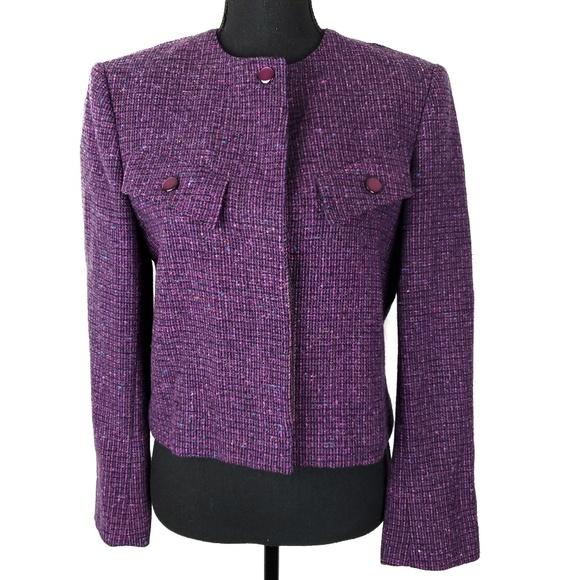 Pendleton Jackets & Blazers - 100% Virgin Wool Purple Blazer by Pendleton